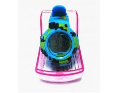 Ceas de mana electronic albastru pentru copii