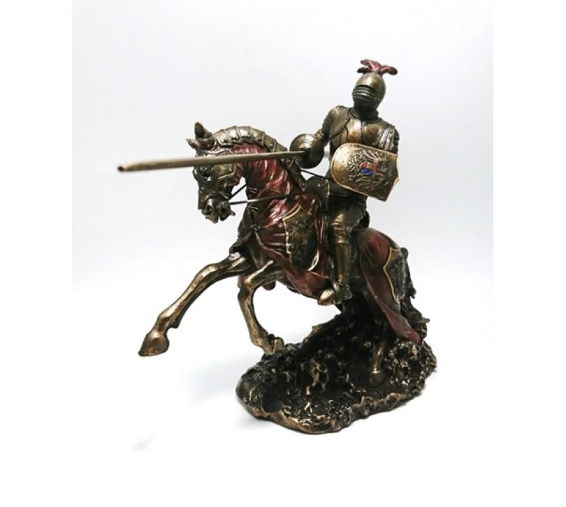 Cavaler Ecvestru cu Lance statueta