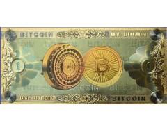 Bancnota aurita 1 Bitcoin 2019