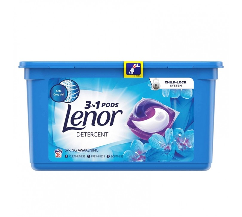 Lenor Spring Awakening detergent capsule 36buc